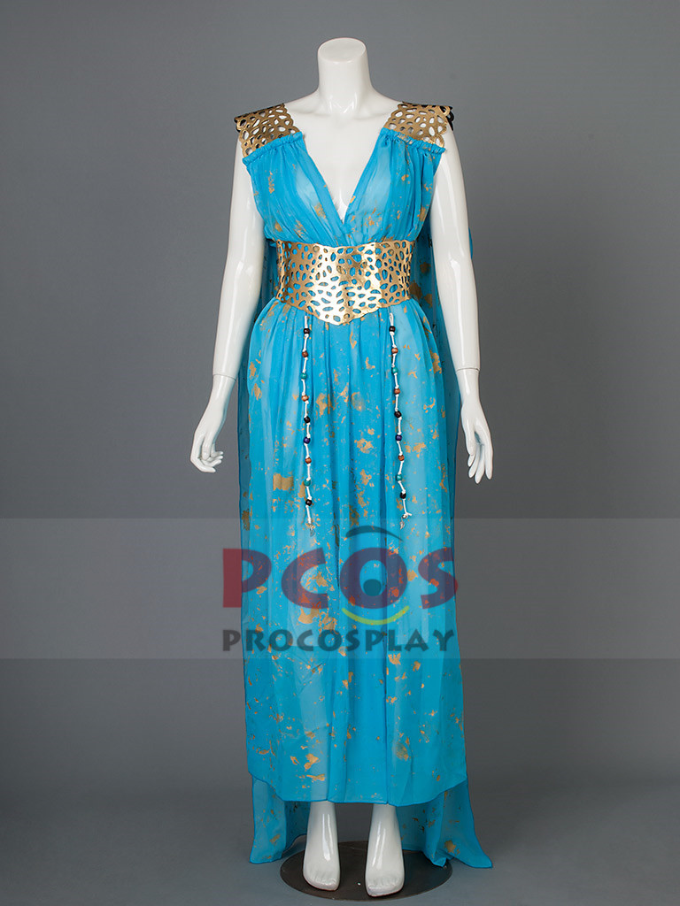 High Quality~ Game of Thrones Daenerys Targaryen Cosplay Costume mp002928
