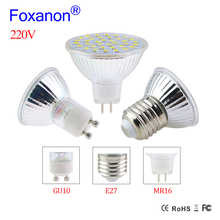 Glass Spotlight GU10 MR16 E27 Led Spotlights 220V 8W 6W 4W Led Lamp GU 10 GU5.3 2835 Lampada Leds Spot light For Home Down light