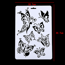 2Pcs Feather/Butterfly/Dandelio/Layering Hollow Stencils For Walls Painting Scrapbooking Stamps Album Embossing Paper Card
