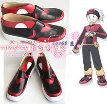 Red Fire Ash Cosplay Boots shoes #cos0153 Halloween Christmas festival