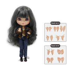Nude icy joint doll Include the hand set A&B like the blyth doll colorful hair suitable DIY dolls gift for girl doll dolls