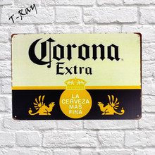 Corona Beer Extra Vintage Metal Sign Wall Sticker For Drink bar Pub Cafe Home Wall Decor