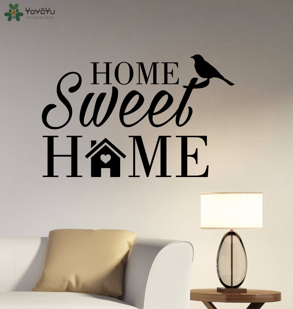 Home Sweet Home Flower Cute vinyl wall decal quote sticker Inspirational