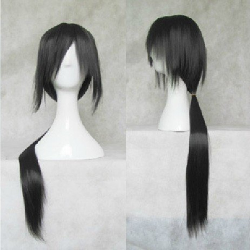 HAIRJOY 80cm Long Black Cosplay Wig Anime Cosplay  Skunks Aph Black Naruto APH Yao Uchiha Itachi Costume Wig <br><br>Aliexpress