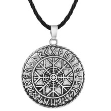 2017 New Valknut Odin's Symbal Of Norse Viking Pendant Necklace Nordic Slavic Rope Chain Amulet Christmas Jewelry Compass Gift(China)