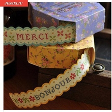 18mm Fresh Floral Print DIY Masking Paper Roll Tape Decorative Adhesive Sticker For Paper Book Decoration(China)