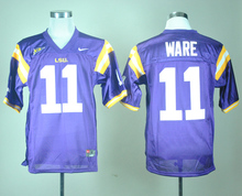 Nike LSU Tigers Spencer Ware 11 White College Jersey Ice Hockey Jerseys M,L,XL,XXL,3XL(China)