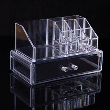 makeup organizer Makeup brush Lipstick frame Nail polish rack eyeliner Eyebrow pencil storage Cosmetic Case Jewelry boxes casket(China)