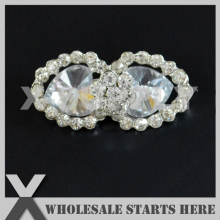 22x44mm Silver Metal Rhinestone Brooch with Regular Pin Backing,Used for Party Evening Wedding Dress,Decorations