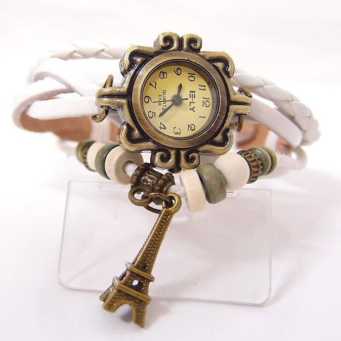 Wholesale Fashion tower Cow Leather watch women ladies dress quartz wrist watch with wooden bead kow047<br><br>Aliexpress