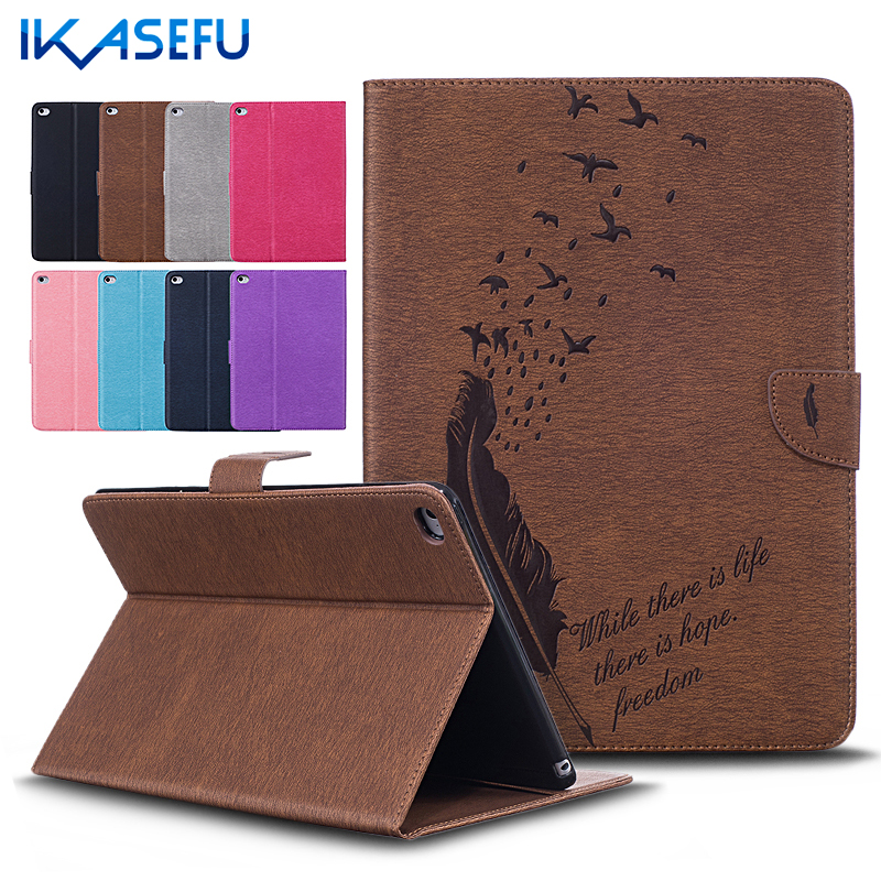 Stand Shell For Apple iPad Air II 2 9.7 PU Leather Luxury Coque Fundas Retro Case Cover for IPAD 6 7.9 inch A1566 A1567 Feather<br><br>Aliexpress