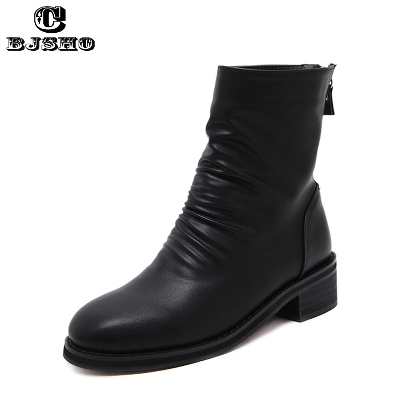 CBJSHO New England Style Dr PU Leather Martin Boots Martin Shoes Winter Women Boots Brand Motorcycle Boots chaussure femme<br><br>Aliexpress