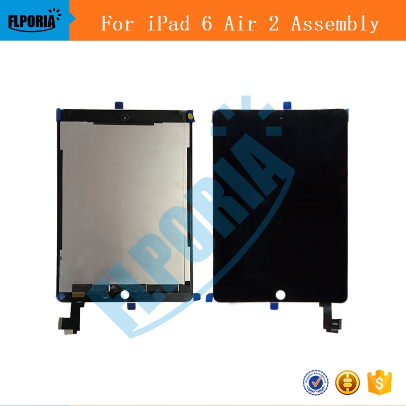 IPHT0222 A1567 A1566 LCD Digitizer Assembly For iPad Air 2 LCD Screen Assembly Display Digitizer Assembly Black White (5a)