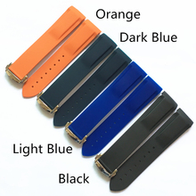 TJP 20mm 22mm Orange Blue Black Silicone Rubber Watchbands For Omega Watch Seamaster Ocean 232 007 Strap wristband With Buckle(China)