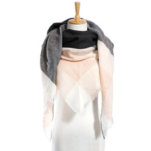 Top quality Winter Scarf Plaid Scarf Designer Unisex Acrylic Basic Shawls Women's Scarves hot sale VS50(China)