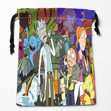 Best Rick and Morty Drawstring Bags Custom Storage Printed Receive Bag Compression Type Bags Size 18X22cm Storage Bags