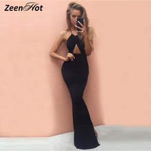 Sexy Women Bandage Bodycon Dress Party Club Wear long Dress Sleeveless Summer Strapless Slim maxi Dresses Vestido de festa(China)