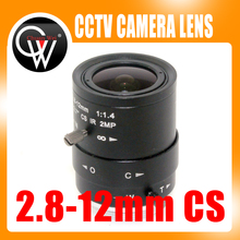 "2MP HD 2.8-12mm cctv lens CS Mount Manual Focal IR 1/2.7"" 1:1.4 for Security IP Camera"