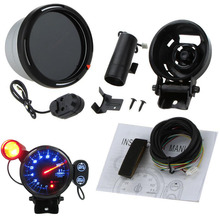 "Mayitr Universal 3.5"" 0-11000RPM Car Speed Tachometer Tacho Gauge Kit Blue LED With Shift Light Car Styling Accessories(China)"