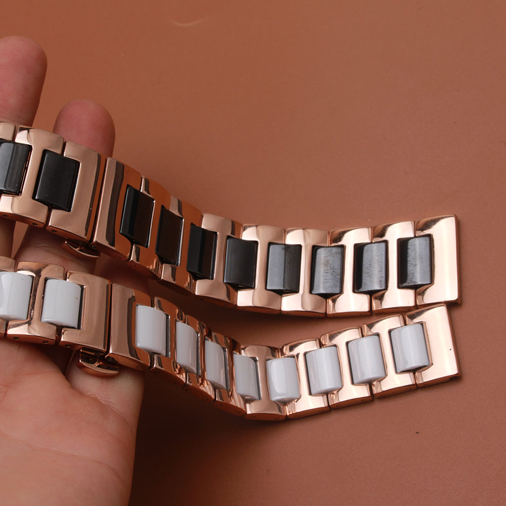 Fine Ceramics Men Strap 16MM 18MM 20MM 22MM watchband black white new Folding Buckle Strap Men Watchbands Female Strap Universal<br><br>Aliexpress