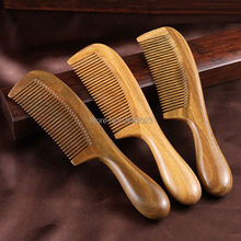 Free Shipping DHL 20 Pcs Handmade Natural Sandalwood Wooden Comb Health Care Head Messager Hair Combs Hair Styling Tool