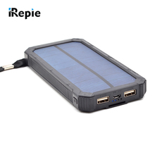 High Quality  Portable 20000mAh Solar Power Bank Waterproof External Battery with LED Light Universal Outdoor Powerbank