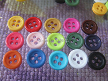 9mm 200pcs candy colors sewing bulk buttons sewing accessories Resin kids garment Buttons crafts cloth accessory
