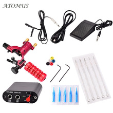 Professional Tattoo Kits Set Completed Exquisite Workmanship Tattoo Kit Equipment Tattoo Machine Inks Power Needles Supp TZ0002