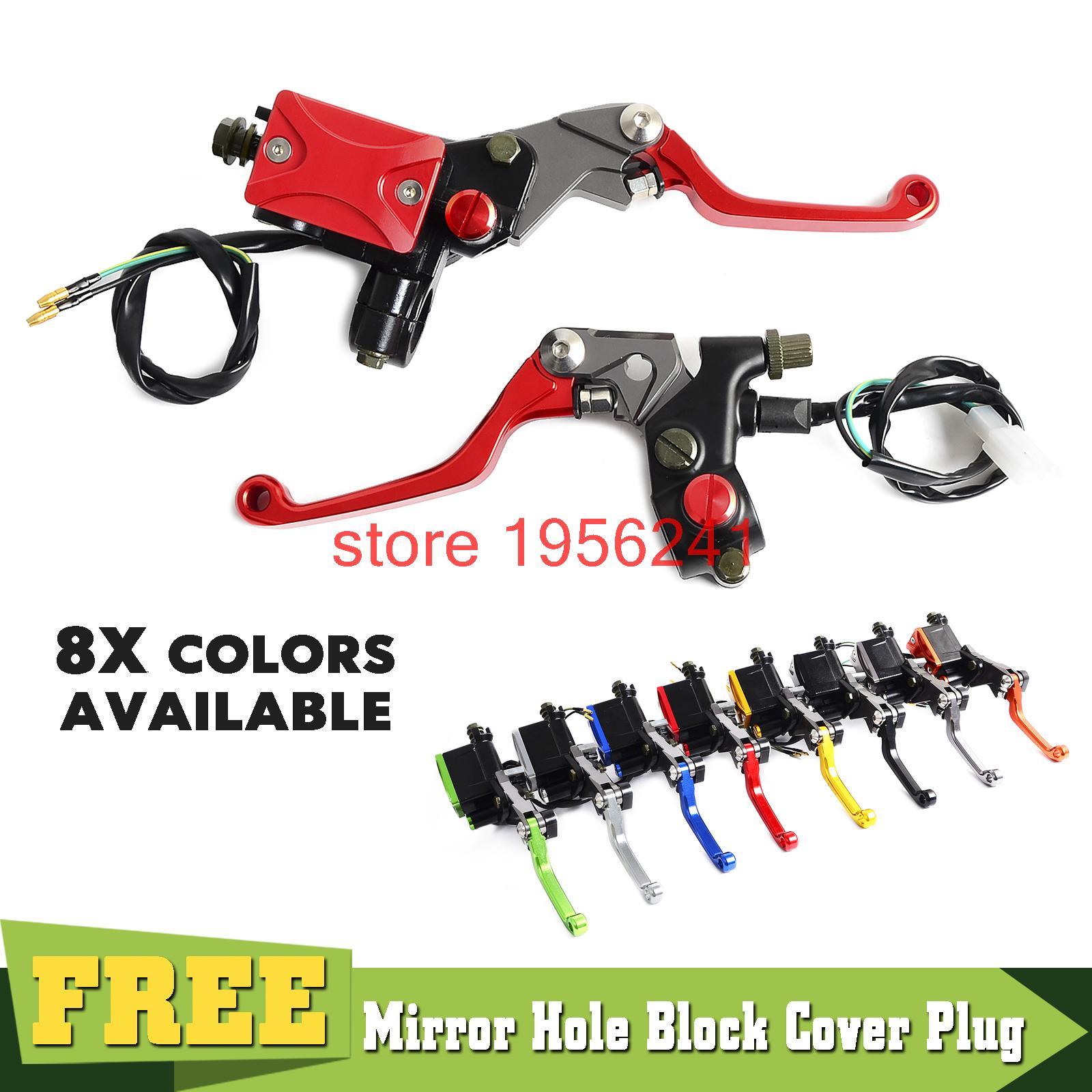 Universal Standard 7/8 Front Brake Master Cylinder Reservoir Levers For Suzuki RM85 RMZ250 RMZ450 LTZ400 LTZ450 DRZ400 DR250<br>