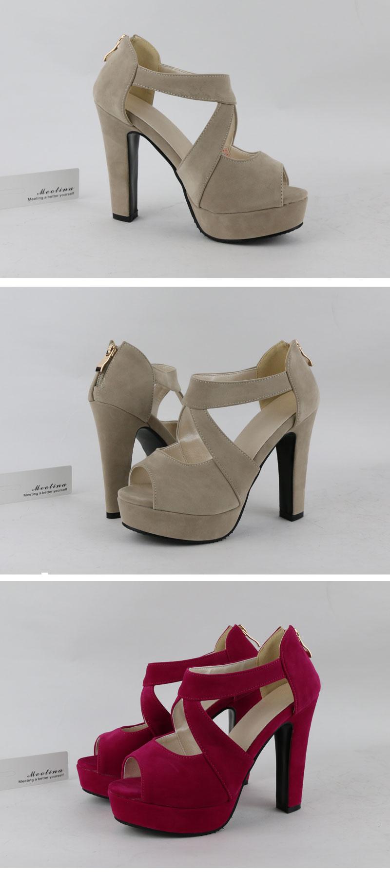 New Women's Platform Sandals, Shoes Cross Strap, High Heel Sandals 10