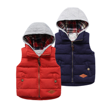 2017 Spring New Boys Vest Cotton Thick Padded Outerware Top Jacket Child Clothes Children Vest Kids Casual Vest