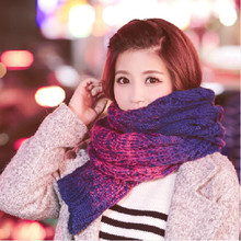 Korean version the autumn and winter days long female wool scarf warm thickening retro Scarves
