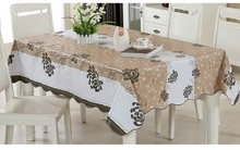 On Sale! table Cloth For home/modern stylish Garden Waterproof Oilproof Printed Black&Brown PVC Dinning Coffee Beauty Flower