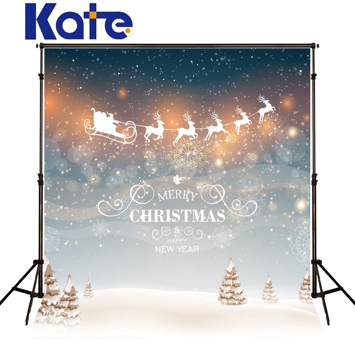 Kate Merry Christmas Backdrops Photography Snow Spot Milu Deer Elk Background Photo Sled Dream Wall Fotografia For Baby J02157<br>
