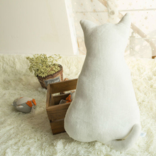 45cm lovely cat pillow plush toy kawaii sofa pillow mat plush toy soft baby cartoon cat doll best children birthday gift