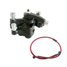 70cm Oil Brake Fuel Line Rear Disc Brake Caliper W/ Pad 47cc 49cc Mini PIT Dirt Quad(China)