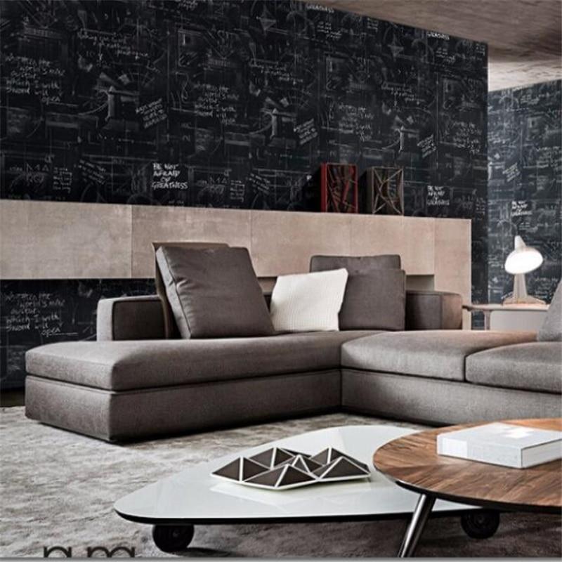 Papel de parede modern abstract wallpaper black personalized alphabet blackboard background wallpaper for walls 3 d  wall paper<br><br>Aliexpress