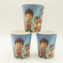 10pcs/set Puppy Patrol Cup Cartoon Theme Party For Children/Boys Happy Birthday Decoration Theme Party Supplies Festival Favors