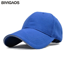 High Quality Cotton Solid Color Baseball Caps Sun Hats Customize Logo Casquette Men Women Tourism Advertising Cap Working Hat(China)