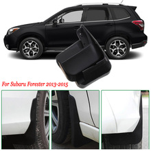 Ipoboo 4pcs Premium Heavy Duty Molded Splash Mud Flaps Guards Fenders For Subaru Forester 2013-2015(China)