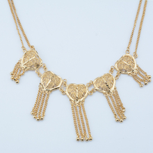 1pcs Women Girls Bride Yellow Gold Color Choker Necklace Short Statement Wedding Jewelry Heart Chains