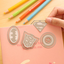 8 pcs/lot Cartoon Hero series metal bookmarks for books bookmark Page Holder Book marks for Kids office school supply