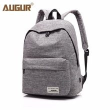 AUGUR Brand Backpack For Men Woman School Bag 14inch Laptop High quality Travel College school Bag Fashion Men Backpack(China)