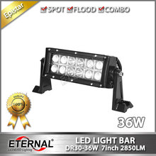 2pcs 36W led light bar 7inch high power spot driving headlight powersports off road ATV UTV 4x4 truck farm vehicles fog headlamp