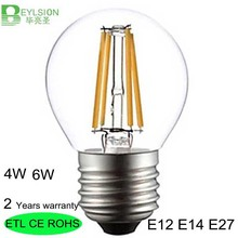 100 X Wholesale 6W G45 680LM LED bulb E27 LED G45 AC 220V 240V Vintage Warm White Edison lamp Filament Decor Lamp Led Specialty