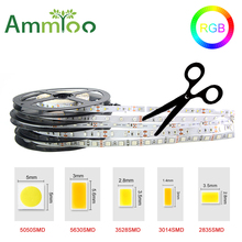 5M RGB LED Strip Light 12V 3528 5050 5630 3014 2835 300leds SMD RGB Neons Lights For Ceiling Counter Cabinet Light No waterproof