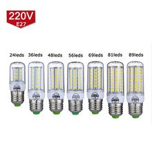 LED Lamp 220V 240V Smart IC E27 E14 SMD5730 LED Corn Light 24/36/48/56/ 69/81/89Leds Home Decoration Indoor Lighting LED Bulb
