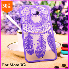 cartoon  case for motorola moto x2 x 2 case black hard cover vintage flower pattern cell luxury mobile phone covers