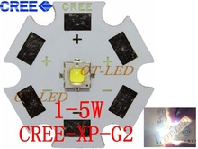 10PCS Cree XPG2 led  XP-G2 1-5W LED Emitter Cold White 6000-6500K with 20/16/14/12/8mm Star PCB for Flashlight/spotlight/Bulb