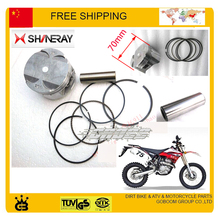 Shineray X2 x2x 250cc 300cc 70mm 73mm 76mm pistone pistone del motore del motociclo anello set parts dirt bike accessori spedizione gratuita(China)